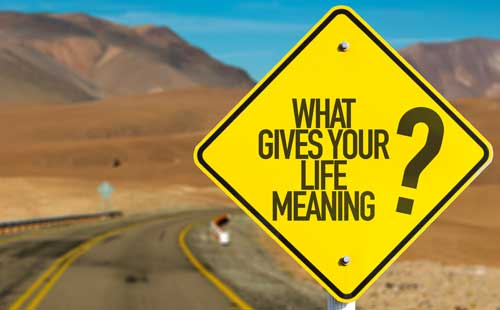 "Road sign that reads ""what Givers Your Life meaning""?"