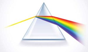 Prism with light
